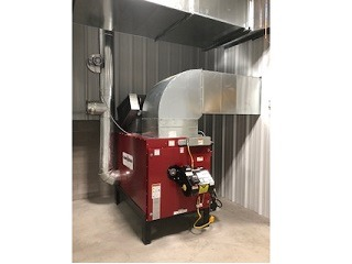 View another Clean Burn waste oil heater.