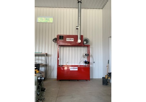 A fully installed Clean Burn waste oil heating system.