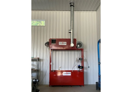This Clean Burn waste oil heater was installed by our technicians at Interstate Energy.