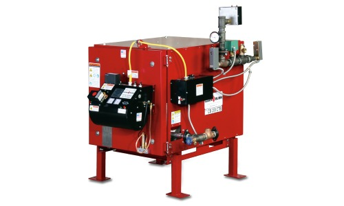 The CTB-350 waste oil boiler.